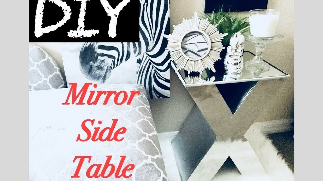 Diy Mirror Side Table Home/Room Decor Using Boxes!!! Simple, Quick, and Inexpensive.