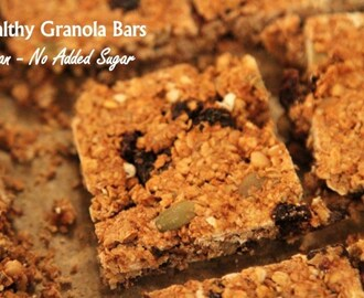 Healthy Granola Bars (Vegan/No Add Sugar)