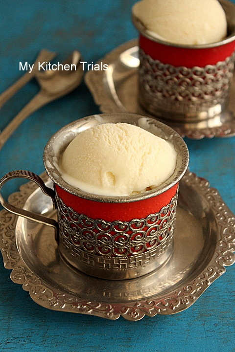 Eggless vanilla Icecream