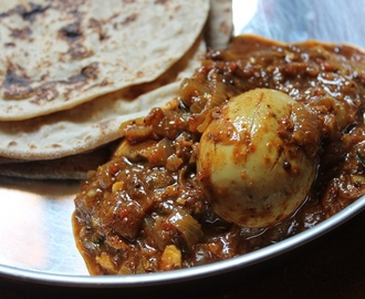 Chettinad Egg Curry / Eggs Cooked in a Spicy Roasted Masala Gravy