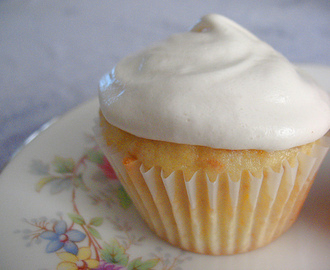 Coconut Cupcakes with Dairy Free 7 Minute Frosting