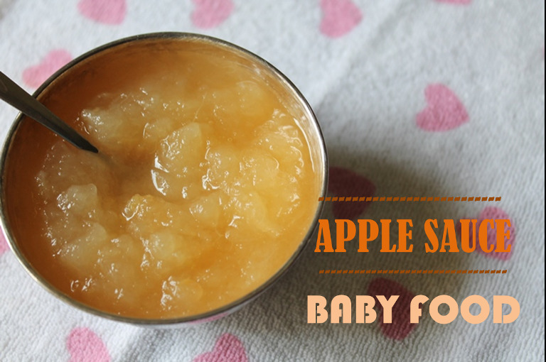 Apple Sauce for Baby / Apple Puree / Pureed Apple / Mashed Apples / Apples for Babies - Baby Food Recipes / 5 Month Baby Food