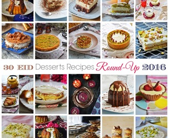 30 Eid Desserts Recipe Round-Up 2016