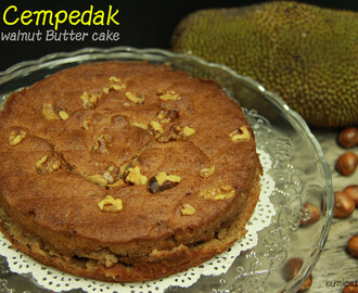 Cempedak Walnut Butter Cake