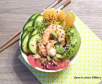 Poke bowl à la crevette marinée / Marinated shrimp poke bowl