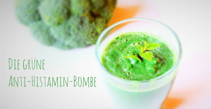 Ein grüner Smoothie namens Anti-Histamin-Bombe