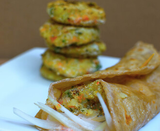 Vegetarian Frankie : Popular Indian Street food