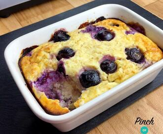 Low Syn Lemon & Blueberry Baked Oats | Slimming World