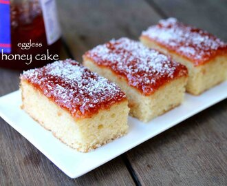 honey cake recipe | how to make eggless bakery style honey cake