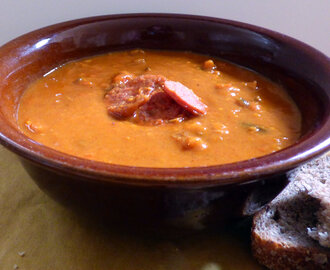 Roast Sweet Potato and Red Pepper Soup Syn Free