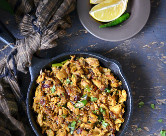 Shredded Chicken Fry / Idicha Kozhi Varuval