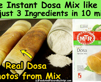 Dosa Mix Powder | MTR Style Dosa Mix Powder | Instant Dosa Recipe