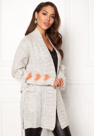 Odd Molly Upbeat Long Cardigan Light Grey Melange S (1)