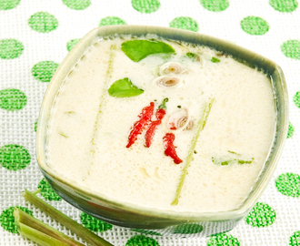 Klassisk thai suppe med kylling (Tom kha gai) - opskrift - Lav thai mad