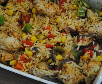 One Dish Cajun Chicken Rice Recipe