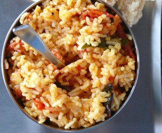 tomato rice step by step  recipe /easy thakkali sadam for lunch