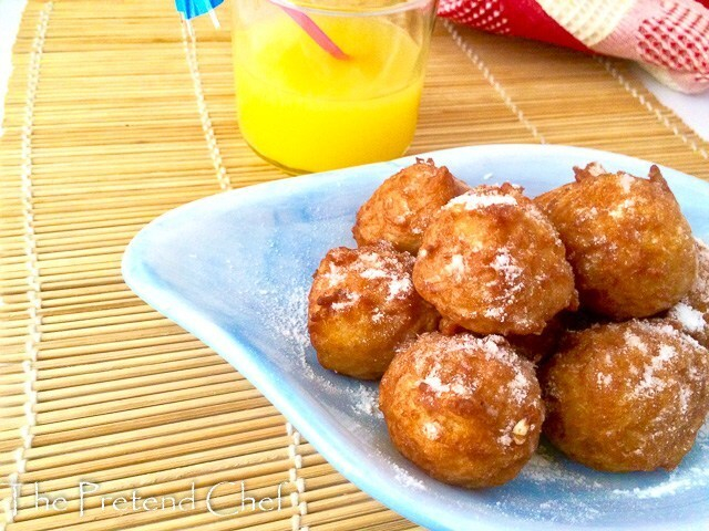 Sweet Rice Fritters, Sweet Rice Doughnuts - The Pretend Chef
