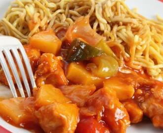 Sweet & Sour Pork with Noodles