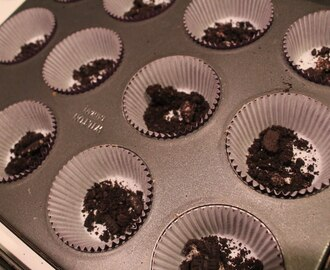 Oreo Cupcakes with Oreo Frosting