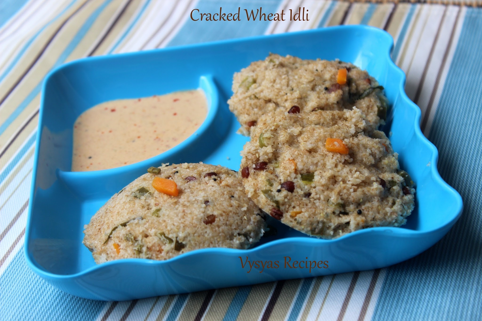 Cracked wheat Vegetable  Idli -  Instant Godhuma Rava Idli -  Dalia Idli