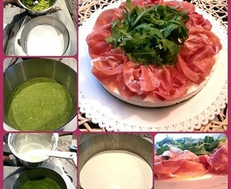 Cheesecake crudo e rucola