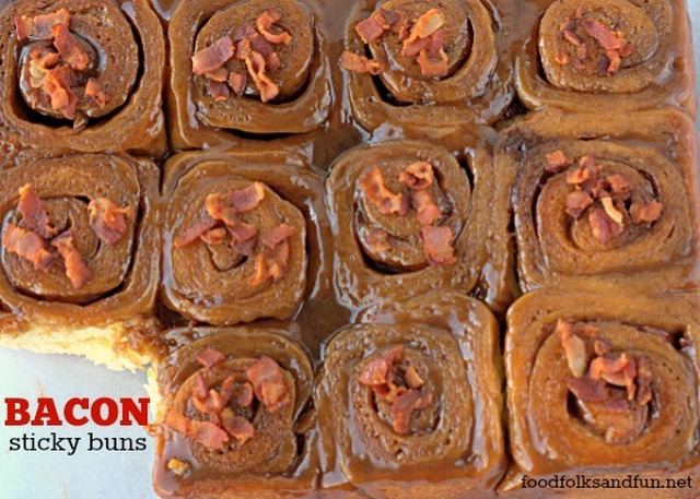 Bacon Sticky Buns & Father's Day Printable