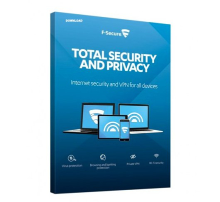 F-Secure Total Security and Privacy - 5 enheter / 1 år