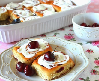 Sweet Cherry Rolls with Almond Cream Cheese Glaze #TwelveLoaves