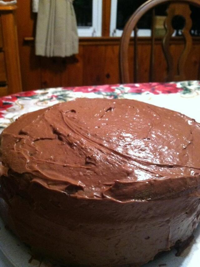 Double Chocolate Cake with Chocolate Buttercream Frosting