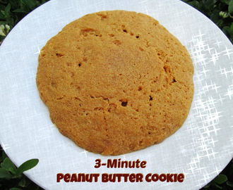 Microwave Peanut Butter Cookies