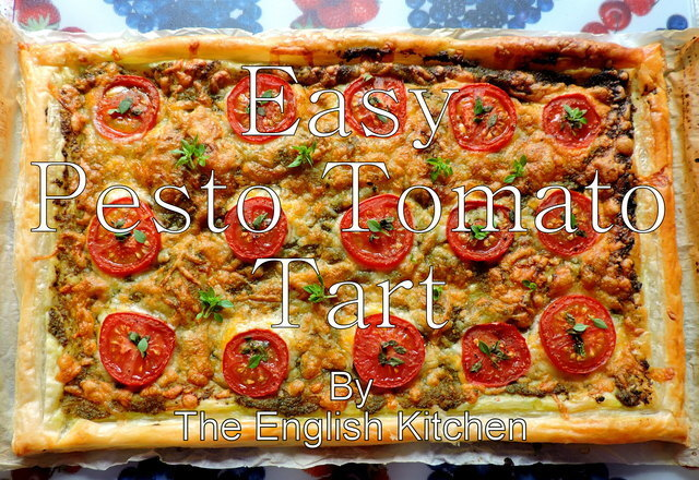 Easy Pesto Tomato Tart