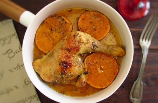 Chicken legs in the oven with orange | Food From Portugal