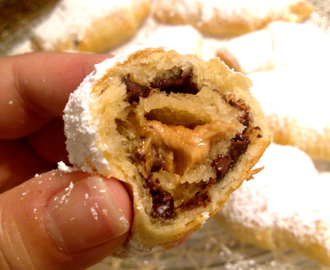 Peanut Butter Stuffed Chocolate Crescent Rolls