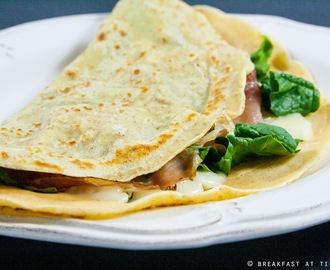 Crêpes integrali light senza burro / No butter & whole-wheat crêpes