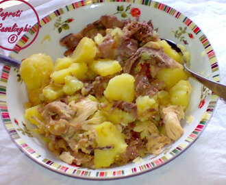 carne vitello patate