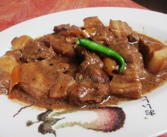 Pork Adobo with Gata (coconut milk)