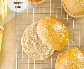 Honey Whole Wheat Burger Buns