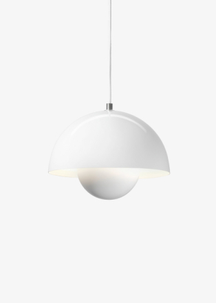 &tradition - Flowerpot Pendel VP1 by Verner Panton - Lampa - White - Gloss - Ø23 X H16