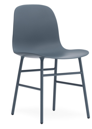 Normann Copenhagen - Form Chair - Stol - Blue/Blue - H78 X L48 X D52 cm.