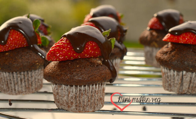 Mini muffin veg fragole e cioccolato