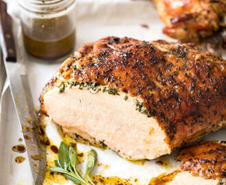 Garlic Herb Butter Roasted Turkey Breast