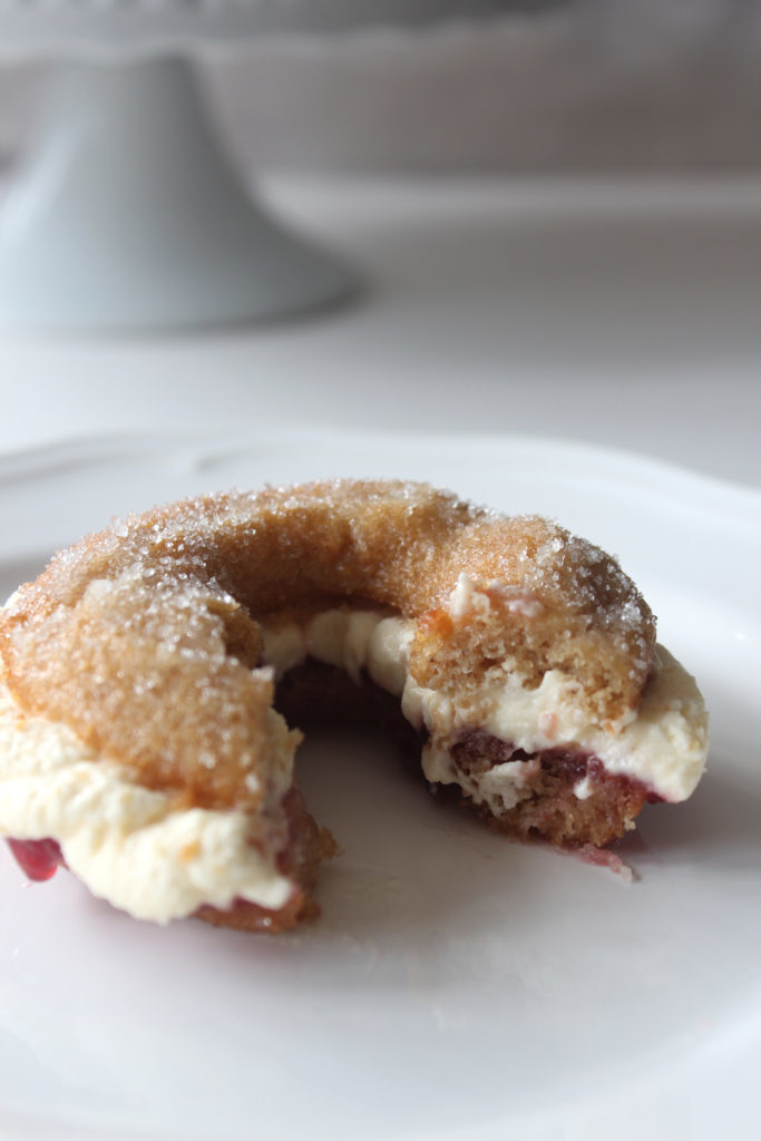 Baked Jam and Cream Doughnut Sandwich