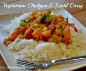 Vegetarian Chickpea and Lentil Curry