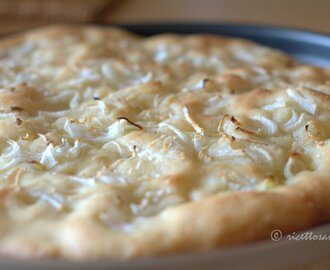 Pizza bianca alle cipolle