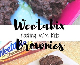 Cooking With Kids. Weetabix Chocolate Brownies (Yes, Weetabix!)