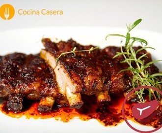 Costillas adobadas al horno