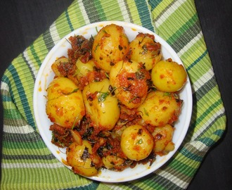 Baby Potato Tikka | Potato tikka fry | Easy Baby Potato recipes