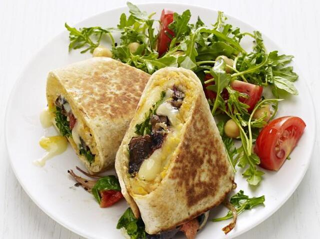 Portobello-Chickpea Wraps