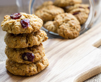 Vegan Oaty Cranberry & Coconut Cookies