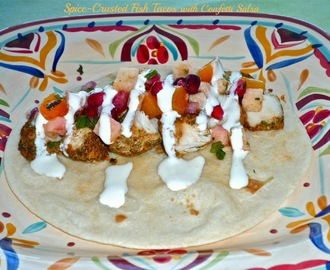 #SundaySupper Is Turning TWO...Featuring Spice-Crusted Fish Tacos with Confetti Salsa